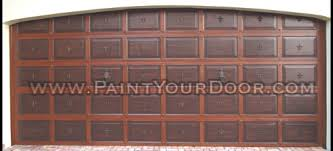 door diva faux wood grain garage door painting wrought iron
