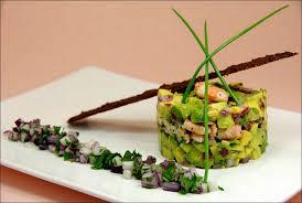 dressage des assiettes en cuisine a défaut de bleu dans le ciel du vert dans visions gourmandes
