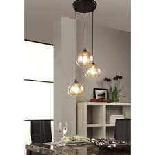 3 Pendant Light Uptown 3 Light Clear Globe Cluster Pendant Free Shipping Today