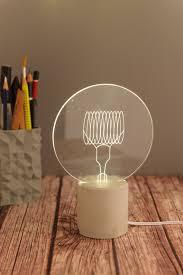Globe Table Lamp Sturlesi Shop Globe Desk Lamp Modern Exposed Bulb Concrete