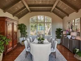 coffer ceiling keeping room window seat fireplace wood mantel