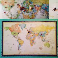 Diy World Map by Diy U2013 The Vintage Heart