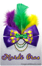 mardi gras ribbon mardi gras bow magical ribbons
