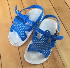 vintage 1980s toddler boys girls blue summer sandals size 5 6