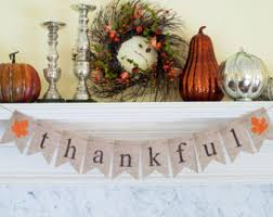 burlap thanksgiving banner thankful banner etsy