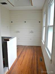 Laminate Flooring Wall Tutorial And Tips For Using Shiplap Walls In The Bathroom