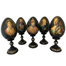 decorative eggs for sale collection of five russian painted eggs for sale at 1stdibs