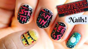 stranger things nail art tutorial youtube