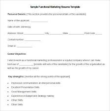 Functional Resume Format Sample marketing resume template u2013 37 free samples examples format