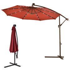 10 u0027 hanging solar led umbrella patio sun shade offset market w