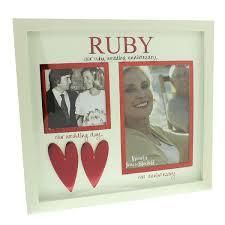 Wedding Gift Experiences Our Ruby Wedding Anniversary Then And Now Photo Frame The Gift