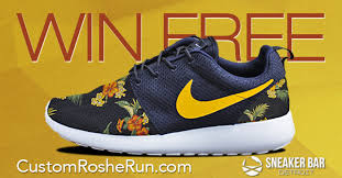 nike design your own win a custom pair of nike roshe run a design or create your
