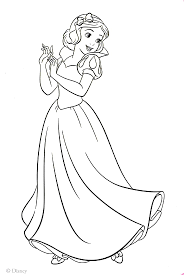 snow white coloring page printable snow white coloring pages