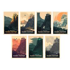 harry potter prints by olly moss
