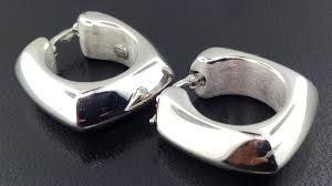 18k italian designer knife edge hoop earrings exeter jewelers