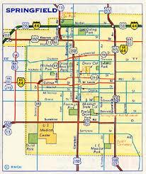 springfield map map of springfield missouri missouri map