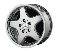 mercedes amg black rims amazon com 17 5 spoke amg style chrome wheels for mercedes