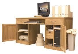 hidden office desk mobel oak large hidden office twin pedestal desk