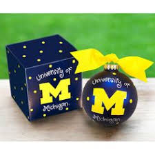 of michigan wolverines rock glass set of two