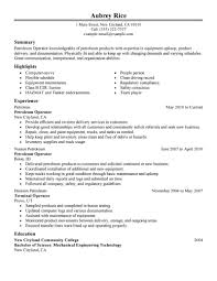 Maintenance Resume Sample Free Best Petroleum Operator Resume Example Livecareer