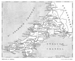 Cornwall England Map by Cornwall By G E Mitton