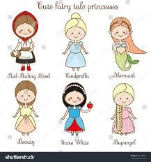 cute kawaii fairy tales characters snow stock vector 618105860