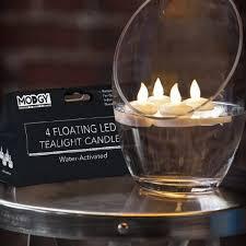 floating led tea lights floating led tea light candles 4pc loop living funiture