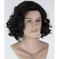 wigs for halloween amazon com angelaicos men u0027s curly fluffy cool nautral looking