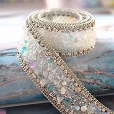 pearl lace atsknsk 50 cm artificial pearl beaded lace trim