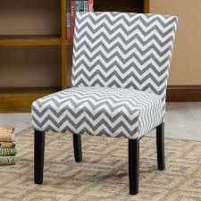 Contemporary Accent Chairs For Living Room Roundhill Furniture Botticelli Grey Wave Print Fabric