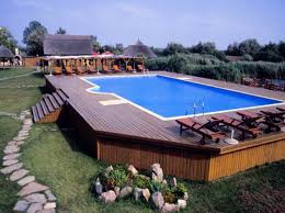 outdoor above ground pools with stone path pools for home