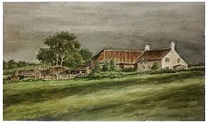 old farmhouse watercolor kenny oliver u0027s art