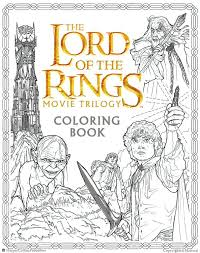 the lord of the rings movie trilogy coloring book warner