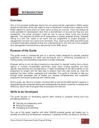 practical guide to programme project proposal writing