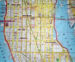 Printable Map Of New York City by New York City Street Map Red