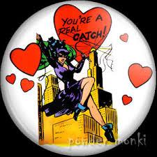 retro valentines retro superheroes badges magnets powder monki