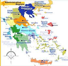 greece map political greece administrative regions map