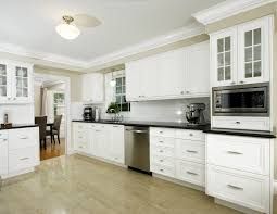 craftsman style crown molding kitchen transitional with white wood