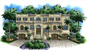 mediterranean style floor plans grand entrance with dual stairs 66224we architectural designs