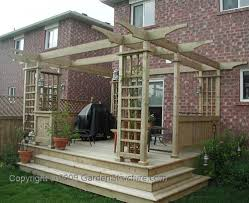 Deck Plans With Pergola by Simple Deck Designs Free Simple Deck Plans Woodworking Project