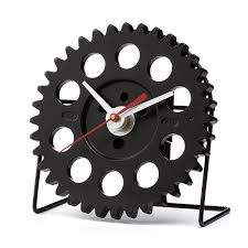 auto timing desk clock car enthusiast gear clock uncommongoods
