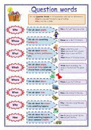 english worksheet u201cwh question words u201d who whose what when