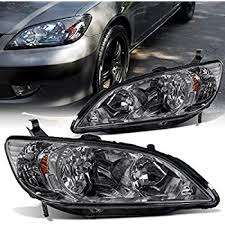 honda civic headlight amazon com honda civic 2 door coupe headlights headls pair