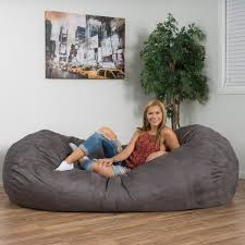 Beanbag Bed Larson Faux Suede 8 Foot Lounge Beanbag Chair By Christopher