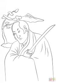 samurai warrior coloring free printable coloring pages