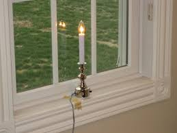 battery operated window candles new ge 95in led cordless window