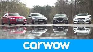 bmw 3 series or mercedes c class audi a4 vs mercedes c class vs bmw 3 series vs jaguar xe review