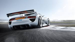 porsche modified cars modified porsche 918 racing rear angle view vehicles white