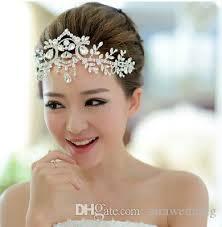 wedding headdress wedding bridal bridesmaid white rhinestone ornament crown wedding