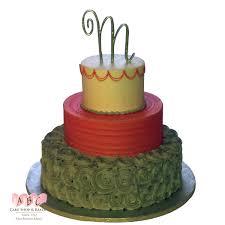 1443 3 tier fall color wedding cake abc cake shop u0026 bakery